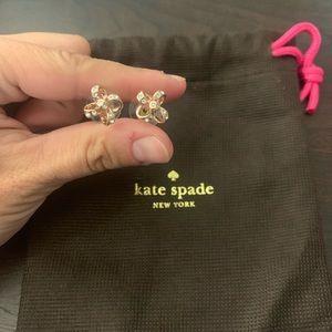 Kate spade, rose gold bow earrings